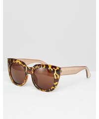 AJ Morgan - Schildplatt-Sonnenbrille mit schwerem gesprenkeltem Rahmen - Braun