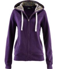 bpc bonprix collection Gilet sweat-shirt à capuche violet manches longues femme - bonprix