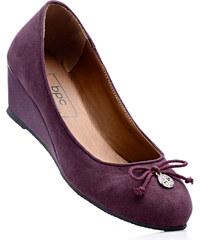 bpc bonprix collection Ballerines compensées en 2 largeurs, chaussant normal violet avec 5 cm talon compenséfemme - bonprix