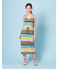 Easy Drawstring Dress Bunt Damen Boden
