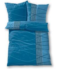 bpc living Bettwäsche Welle, Linon in blau von bonprix