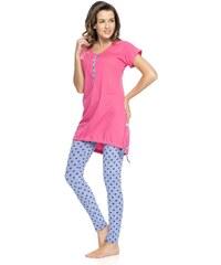 Dobra nocka Dámské pyžamo Rosy růžová L
