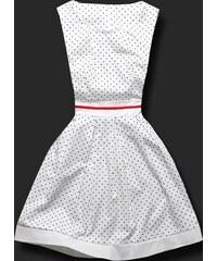Kleid gepunktete H03