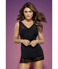 OBSESSIVE Erotická košilka Miamor chemise XXL černá
