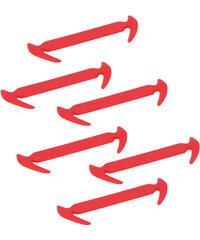Lesara 6er-Set Silikon-Schnürsenkel - Rot