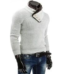 Coolbuddy Pánský svetr se stojatým límcem s kožešinou 4271 Velikost: XXL