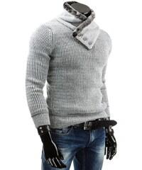 Coolbuddy Pánský svetr se stojatým límcem s kožešinou 4270 Velikost: L