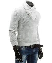 Coolbuddy Bílý praktický pánský svetr 4299 Velikost: XL