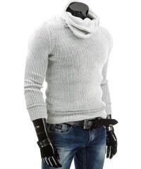 Coolbuddy Teplý pánský bílý svetr 4293 Velikost: XXL