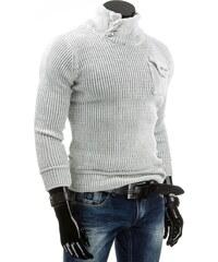 Coolbuddy Bílý svetr se stojatým límcem Lomo 4305 Velikost: XXL