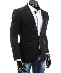Coolbuddy Černé elegantní sako s lemovanými kapsami Welt 4445 Velikost: S