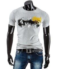Coolbuddy Šedé pánské tričko s krátkým rukávem a potiskem Batman 5232 Velikost: L