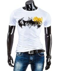 Coolbuddy Šedé pánské tričko s krátkým rukávem a potiskem Batman 5230 Velikost: XL