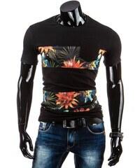 Coolbuddy Pánské tričko s ozdobnými síťovanými pruhy a krátkým rukávem Ringo Black 5261 Velikost: XL