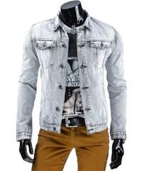 Coolbuddy Šedá pánská džínová bunda 5686 Velikost: S