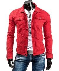Coolbuddy Červená pánská džínová bunda Rosa 5879 Velikost: S