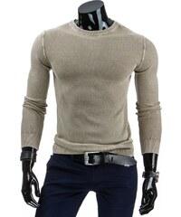 Coolbuddy Bavlněný béžový pánský svetr Lend 6255 Velikost: XXL