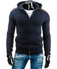 Coolbuddy Tmavě modrý teplý svetr s kapucí Moll 6484 Velikost: XXL