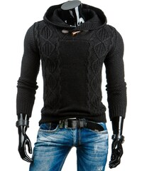Coolbuddy Teplý černý pánský svetr Dand 6492 Velikost: L