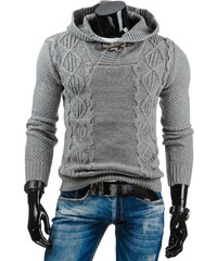 Coolbuddy Teplý šedý pánský svetr Dand 6491 Velikost: L