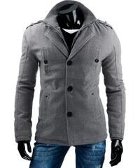 Coolbuddy Šedý pánský kabát 6769 Velikost: XL