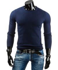 Coolbuddy Hladký tmavě modrý pánský svetr Roll 6901 Velikost: XXL