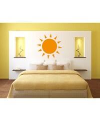 RAWE.CZ - Zářící slunce - Samolepka na zeď - 50x50cm