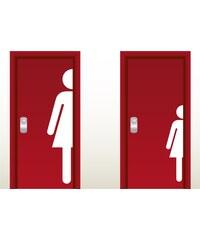 RAWE.CZ - Toaleta dámy - Samolepka na zeď - 100x22cm