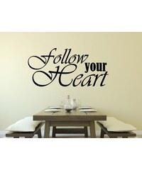 RAWE.CZ - Follow your heart - Samolepka na zeď - 100x48cm