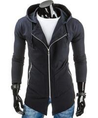 Coolbuddy Pánská prodloužená mikina s kapucí a zapínáním na zip 7173 Velikost: XXL