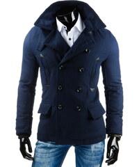 Coolbuddy Tmavě modrý dvouřadý kabát Kerb 7361 Velikost: XXL