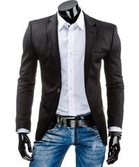 Coolbuddy Černé vypasované pánské sako Serd 7510 Velikost: XL