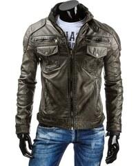 Coolbuddy Trendy pánská grafitová bunda z eko-kůže 7564 Velikost: M