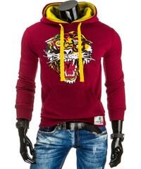 Coolbuddy Pánská mikina s barevnou kapucí a potiskem tyger 7786 Velikost: XXL