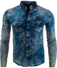 Coolbuddy Pánská džínová košile s dlouhým rukávem 7848 Velikost: S