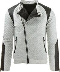 Coolbuddy Pánská prošívaná bunda s asymetrickým zipem Max 8031 Velikost: L