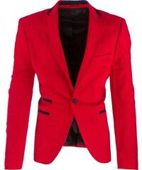 Coolbuddy Pánské červené sako s černým lemováním Red 8076 Velikost: 3XL