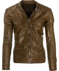 Coolbuddy Pánská hnědá bunda z ekologické kůže Boy 8275 Velikost: L