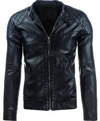 Coolbuddy Černá pánská bunda z ekologické kůže Boy 8280 Velikost: XXL