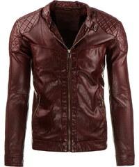 Coolbuddy Pánská bordó bunda z ekologické kůže Boy 8279 Velikost: L