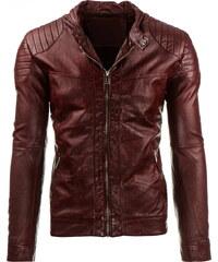 Coolbuddy Pánská bordó bunda z ekologické kůže Bon 8281 Velikost: 3XL