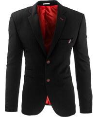 Coolbuddy Černé sako s červenými knoflíky Kurt 8264 Velikost: M