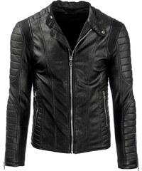 Coolbuddy Pánská černá bunda z ekologické kůže Filip 8296 Velikost: M