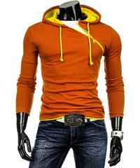 Coolbuddy Trendy pánská mikina s kapucí a efektním šikmým zipem 3273 Velikost: L