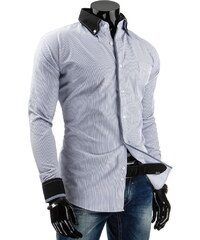 Coolbuddy Elegantní pruhovaná pánská košile s dlouhým rukávem 3902 Velikost: XXL