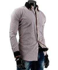 Coolbuddy Pánská pruhovaná košile s dlouhým rukávem 3898 Velikost: XL
