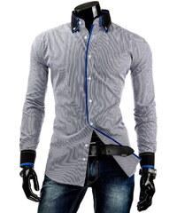 Coolbuddy Pánská pruhovaná košile s dlouhým rukávem 3901 Velikost: XL