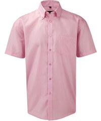 Pánská nemačkavá košile - Růžová S