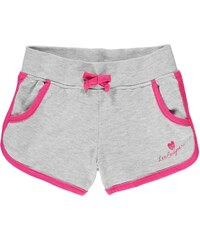 Lee Cooper Jersey Shorts Infant Girls Grey Marl