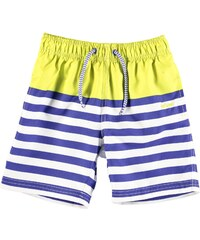 Lee Cooper Striped Swimming Shorts Infant Boys Royal/Lime